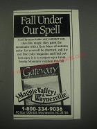 1991 Maggie Valley & Waynesille, NC Ad - Fall under our spell