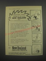 1959 New Zealand Tourism Ad - Spectacular scenery basking in the warm Sun