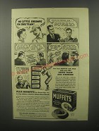1940 Muffets Trusted Whole Wheat Biscuits Ad - No little shrimps on our team