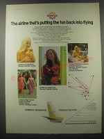 1974 BWIA Airline Ad - The Airline that's putting the fun back into flying