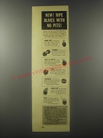 1941 Lindsay Ripe Olive Co. Ad - New! Ripe Olives with no pits!