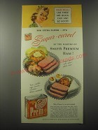1941 Swift & Company Prem Meat Ad - Meals like these are quick, easy