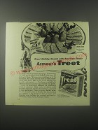 1941 Armour's Treet Meat Ad - Greet holiday guests