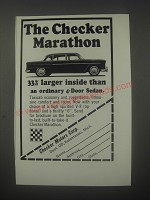 1964 Checker Marathon Car Ad - 33% larger inside than sedan