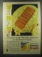 1942 Armour's Treet Meat Ad - Scrumptious eating!