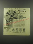 1942 Armour's Treet Meat Ad - Thrilling for Parties Thrifty for Everyday!