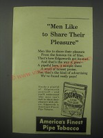 1942 Edgeworth Pipe Tobacco Ad - Men like to share their pleasure
