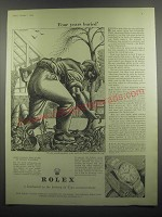 1953 Rolex Oyster Perpetual Watch featuring art by Eric Fraser Ad - Four years