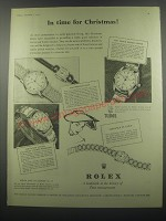 1953 Rolex and Tudor Watches Ad - In time for Christmas