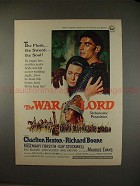 1965 Ad for the Movie The War Lord - Charlton Heston!!