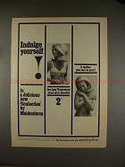 1965 Maidenform Confection Bra Ad - Indulge Yourself!!
