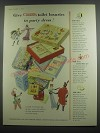 1953 Cussons Gift Boxes Ad - Give Cussons toilet luxuries in party dress