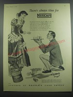 1953 Nescafe Coffee Advertisement - There's always time for Nescafe