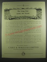 1953 Cable & Wireless Limited Ad - The Long Line under the Ocean