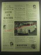 1953 Austin A70 Hereford Car Ad - Let's take a good long look