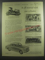 1953 Vauxhall Velox Car Ad - Vauxhall golden jubilee 1903 to 1953