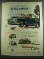 1953 Morris Oxford Car Ad - The Oxford accent is on Quality