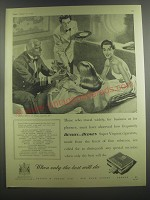 1953 Benson and Hedges Super Virginia Cigarettes Ad - Those who travel widely