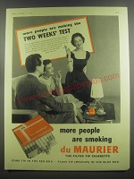 1953 Du Maurier Cigarettes Ad - more people are making the two weeks' test