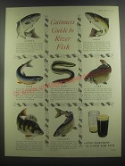 1953 Guinness Beer Ad - Guinness Guide to River Fish