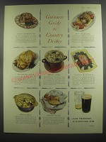 1953 Guinness Beer Ad - Guinness Guide to Country Dishes