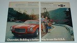 1972 2-page Chevrolet Camaro Ad - Need a Back Seat!!