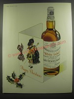 1953 Dewar's White Label Scotch Whisky Ad - Happy Christmas
