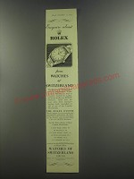 1953 Watches of Switzerland Ad - Enquire about Rolex from Watches of Switzerland