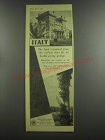 1953 Italian State Tourist Office Ad - Italy The land renowned