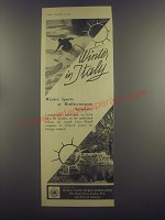 1953 Italian State Tourist Office Ad - Winter in Italy