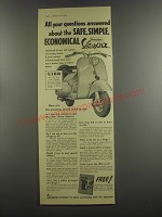 1953 Vespa Scooter Ad - All your questions answered