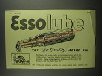 1953 Esso Essolube Motor Oil Ad - Essolube the top quality motor oil