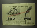1953 Esso Essolube Motor Oil Ad - Bred by Continuous success on the racetracks