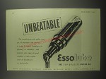 1953 Esso Essolube Motor Oil Ad - Unbeatable