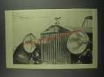 1953 Rolls Royce Car Advertisement - The best car in the world