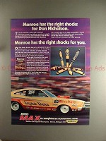 1974 Monroe Shocks Ad w/ Don Nicholson - Right Shocks!
