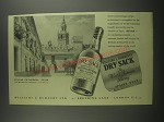 1953 Williams & Humbert's Dry Sack Sherry Ad - Seville Cathedral, Spain