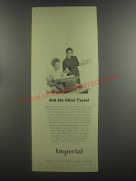 1953 Imperial Typewriter Ad - Ask the chief typist