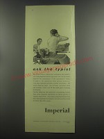 1953 Imperial Typewriter Ad