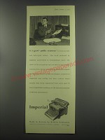 1953 Imperial Typewriter Ad - It is good public relations