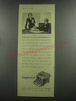 1953 Imperial Typewriter Ad - Letters are your best representatives