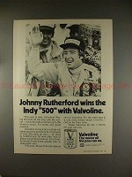 1974 Valvoline Motor Oil Ad w/ Johnny Rutherford, NICE!