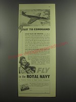 1953 Royal Navy Ad - Yours to command