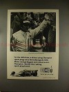 1974 Champion Spark Plugs Ad w/ Johnny Rutherford, NICE