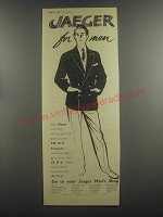 1953 Jaeger Blazer and Trousers Ad - Jaeger for men