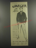 1953 Jaeger Sweater and Trousers Ad - Jaeger for men