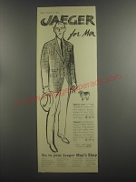 1953 Jaeger Sports Coat and Trousers Ad - Jaeger for men
