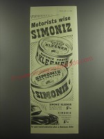 1953 Simoniz Paste Kleener and Wax for Cars Ad - Motorists wise Simoniz