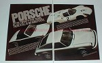 1975 2-page Porsche 904 911 914 Car Ad - No Substitute!