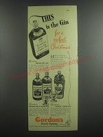 1953 Gordon's Ad - Special Dry Gin, Orange Gin, Lemon Gin and Shaker Cocktails